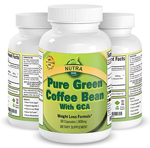 100% Pure Green Coffee Bean Extract, Highest Grade Antioxidant GCA for Maximum Weight Loss, Best Natural Supplement to Lose Weight for Men and Women, Burns Both Fat and Sugar As Doctor Recommends - 60 Capsules (Coffee Bean Extract Highest Grade compare prices)