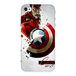 Stylish CV War Multicolor Back Case Cover for iPhone 4 4s