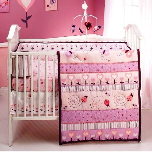 Baby Bedding  Girls on Ladybug Baby Bedding