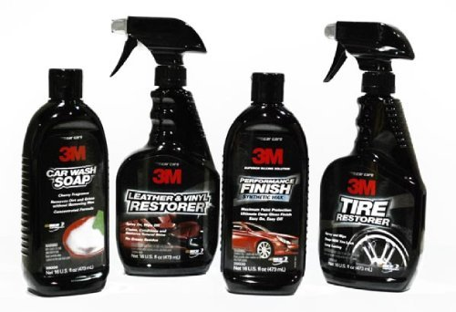 3M Professional Complete Car Care Gift Kit (Soap, Interior & Tire Cleaner, Wax). 3MGiftSet. 39000, 39040, 39042, 39030.