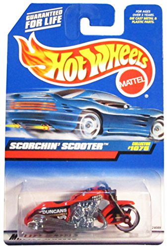 Mattel Hot Wheels 1999 1:64 Scale Red Scorchin Scooter Die Cast Motorcycle Collector #1075