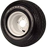Golf Cart and Tractor Replacement Tire Assembly - 18 x 850 x 8, Sawtooth