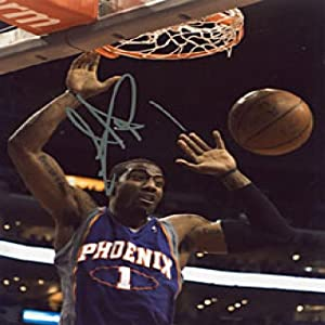 Amare Stoudemire Autographed Signed Phoenix Suns Basketball 8x10 Photo by Hollywood Collectibles