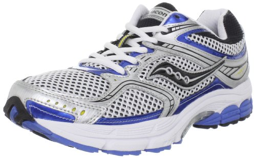 Saucony Men's Progrid Stabil CS 2 Running Shoe,White/Silver/Royal,10 M US
