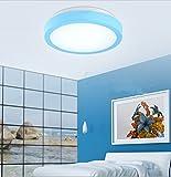 Ancernow Creative chaud Simple Plafonniers Ronde Led ,bleu,26cm Plafonnier pour chambre à coucher, salle à manger, couloir, chambre enfants, hôtel, salon