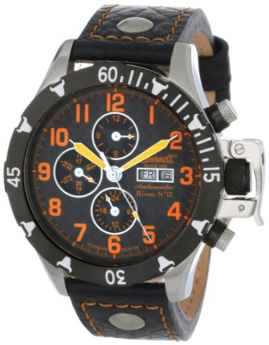Ingersoll Men's IN2803BOR Bison Number 12 Automatic Orange Accent Watch