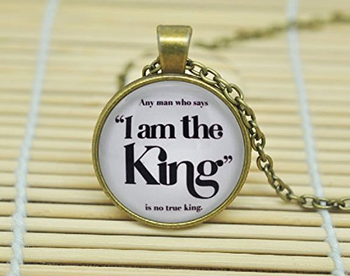 SunShine Day Game Of Thrones 'I Am The King' Joffrey And Tywin Lannister Necklace Glass Dome Cabochon Necklace