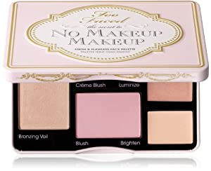 Too Faced The Secret to No Makeup Makeup Fresh and Flawless Face Palette, 0.65 Ounce