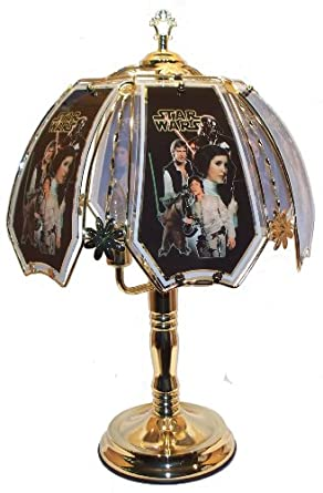 star wars brass touch lamp table lamps amazoncom