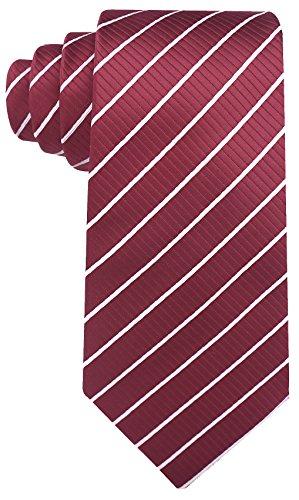 Scott Allan Mens Striped Tie - Burgundy/White (Scott Allan Red Ties compare prices)