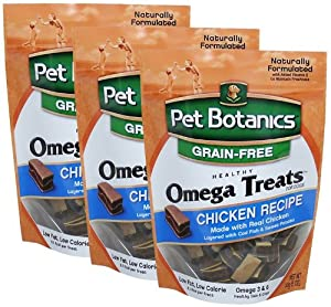 3 Pack Pet Botanics Healthy Omega Treats - Chicken (Three 6 oz packages) Total 18 oz