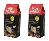 2 X Bar-Be-Quick 6kg Instant Lighting Charcoal- Clean, quick and easy- Simply place on BBQ & Light!