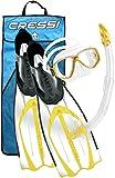 Cressi Schnorchel Set Pluma Bag (Brille, Schnorchel, Flossen)