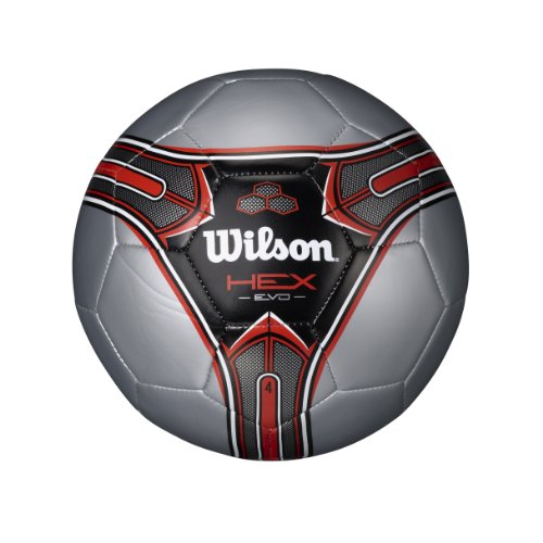 Wilson Hex Soccer Ball (Red, Size 3)