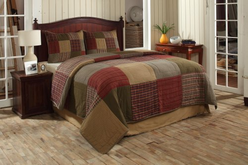 Cheapest Price! Patchwork Quilt Set - 3 Pieces (Bryan Block, King)