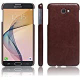 Octer Cover For Samsung Galaxy J7 Prime Leather Back Cover (Brown)