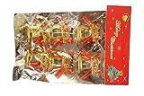 Pragati Pro christmas decoration tree bells hanging bells(gold, pack of 6, 1.5inch bells)