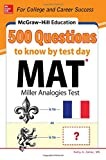 img - for McGraw-Hill Education 500 MAT Questions to Know by Test Day book / textbook / text book