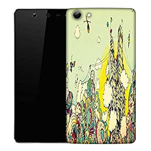 Snoogg Colorful City Drawing Designer Protective Phone Back Case Cover For Micromax Canvas Selfie Q348