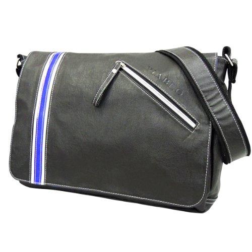 DIABLO KA-2295シングルライン ショルダー バッグ 【ブラック×ブルー】
