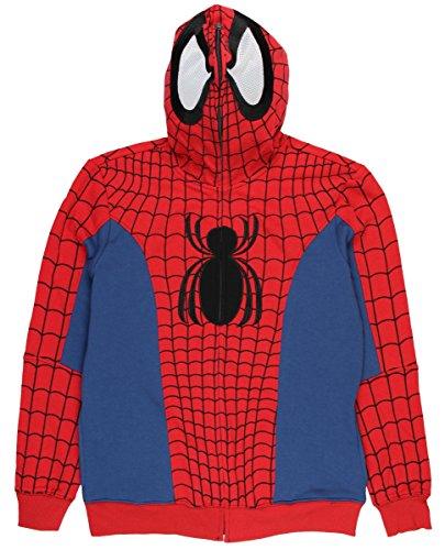 Marvel Spider-Man Civil War Comic Costume Full Zip Hoodie (Small)