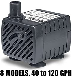 PonicsPump PP04005: Submersible Pump, 40 GPH, 120 Volts AC, 5 Foot Cord (Compare to Jebao PP300LV). Comes with 1 year limited warranty.