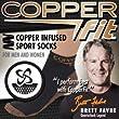 Copper Fit Unisex Sport Socks, Small/Medium, 2-Pack (One White, One Black)