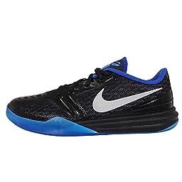 Nike Kids KB Mentality GS, BLACK/MTLLC SILVER-GM ROYAL-PHOTO BLUE, Youth Size 6.5