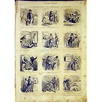 La Impresión Antigua del Queso de la Exposición Bosqueja a los Franceses 1865