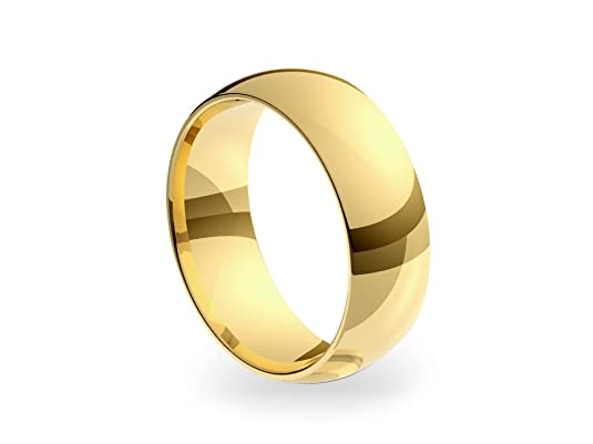 9ct Yellow Gold Medium Court 7mm Wedding Ring