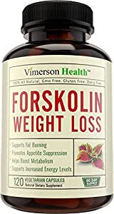 60 Day Supply - Pure Forskolin Extract For Extreme Weight Loss 100 All Natural Supplement Best Diet Pills Appetite Suppressant Carb Blocker Made In The Usa 100 Money Back Guarantee by Vimerson Health