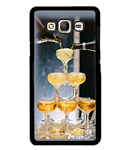 Printvisa Wine Glasses Pyramid Back Case Cover for Samsung Galaxy On7::Samsung Galaxy On7 G600FY