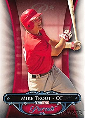 2010 Tristar Pursuit #10 Mike Trout ROOKIE MINT in Ultra Pro Snap Card Holder to Protect it! Rare Rookie Card of Los Angeles Angels MVP Mega Star !