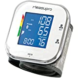 MeasuPro Wrist Digital Blood Pressure Monitor with Heart Rate Monitor, Hypertension Color Alert Display, Two User Modes, IHB Indicator and Memory Recall