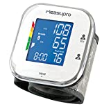 MeasuPro Digital Wrist Blood Pressure Monitor with Heart Rate Monitor, Hypertension Color Alert Display, Two User Modes, IHB Indicator and Memory Recall