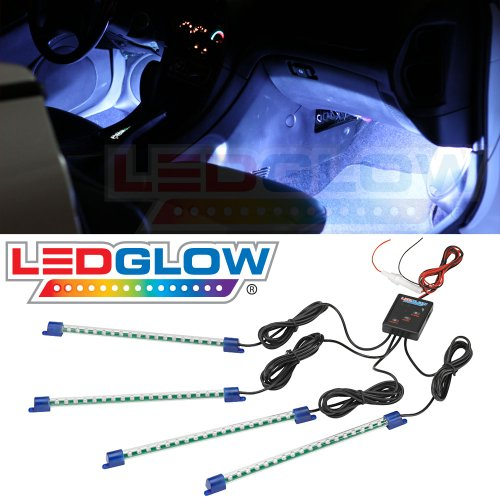 4pc. White LED Interior Underdash Lighting Kit