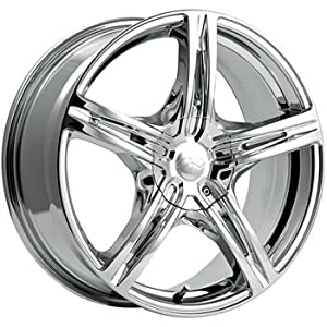 CX CX17 16x7.5 Chrome Wheel / Rim 5x4.5 & 5x120 with a 38mm Offset and a 74.10 Hub Bore. Partnumber 817C-6755738