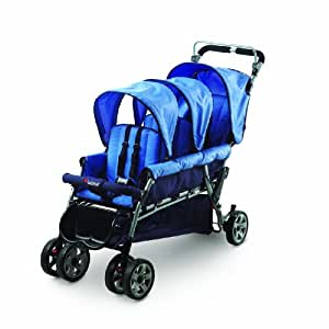 Foundations Trio Triple Tandem Stroller, Blue (Discontinued by Manufacturer)