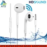 #2: AT Shopping Stereo Earphone Hands-Free 3.5Mm Jack In-Ear Super Extra Bass Headphone With Mic Compatible with Samsung, Motorola, Sony, Oneplus, Htc, Lenovo, Nokia, Asus, Lg,Oppo,Vivo, Coolpad, Xiaomi, Micromax and All Mobiles