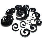 Acrylic Spiral Taper Black Ear Taper Flesh Tunnel Stretcher Expander