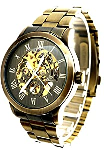 New Brand Mall Men's Retro Automatic Watch Self-winding Skeleton Design Mechanical Wrist Watch