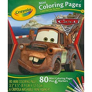 Crayola Mini Coloring Pages - Disney Cars Race 'O Rama