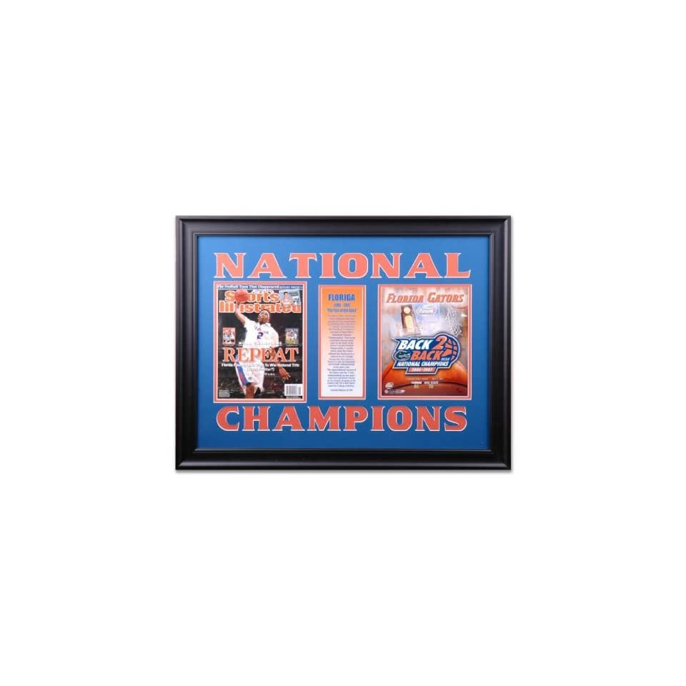 Framed NCAA Basketball Championship Sports Illustrated Cover with BCS
