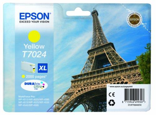Epson T7024 Tintenpatrone Eiffelturm, Singlepack gelb