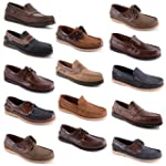 Mens Leather Nubuck Slip On Lace Up D...