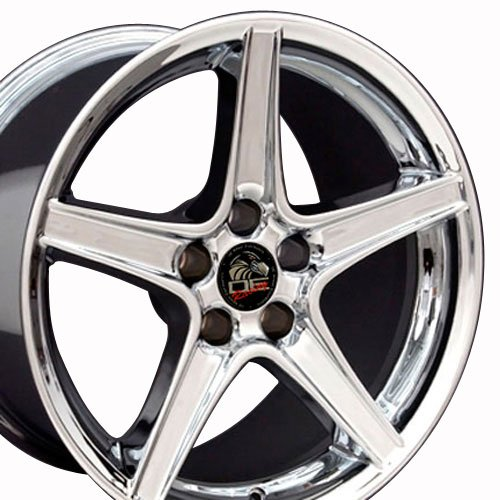 18x9 Wheel Fits Ford - Mustang Saleen Style Chrome Rim (Mustang Saleen Wheels compare prices)