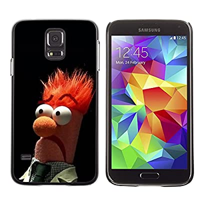 CASETOPIA / Funny Muppet Beaker Meme / Samsung Galaxy S5 SM-G900 / Black Hard Back Case Cover Shell Armor Protection