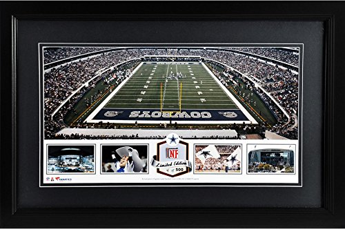 att-stadium-dallas-cowboys-framed-panoramic-collage-with-game-used-football-limited-edition-of-500-f