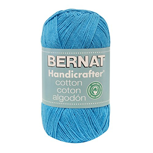 Bernat Handicrafter Cotton Yarn, Solid, 14 Ounce, Blue Snow Cone (Yarn Cotton Cone compare prices)