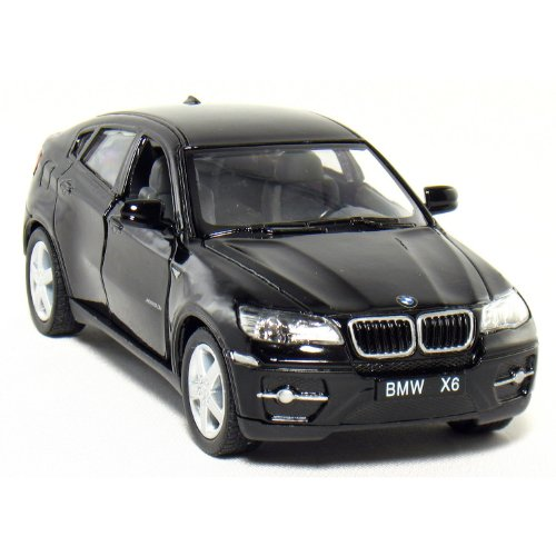 "Set Of 4: 5"" BMW X6 SUV 1:38 Scale (Black/Red/Silver/White"